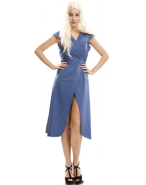 Draken koningin blauw kostuum voor vrouw