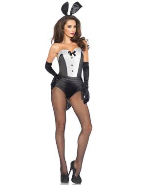 Kostuum klassiek konijntje voor vrouw