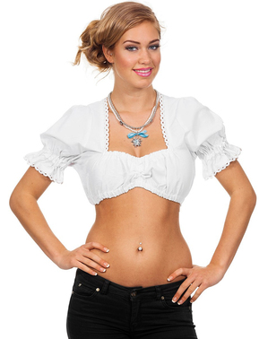 Blusa austríaca Oktoberfest para mulher