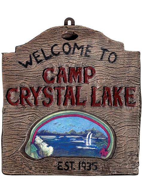 Señal de Bienvenida al campamento del lago Crystal Lake Viernes 13