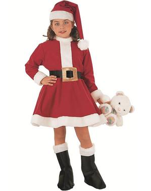 Mädchenkostüm Weihnachtsfrau
