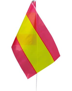 Flagga med pinne Spanien