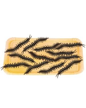 Bag of 12 decorative centipedes