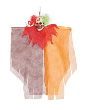 Hangende spookachtige clown figuur