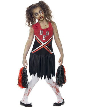 Cheerleader zombikostume til pige