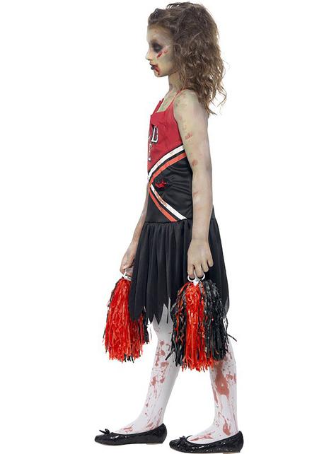 Zombie cheerleader costume for kids