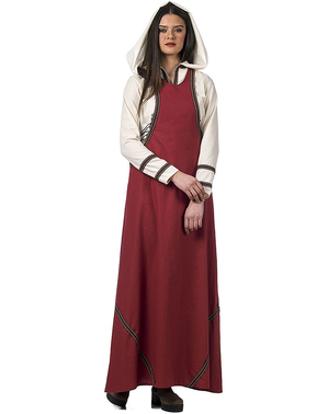 Costum de servitoare medievală pentru femeie