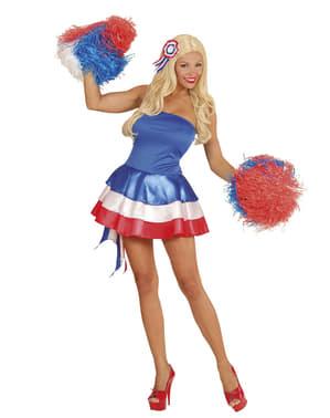 Naisten ranskalainen cheerleader - asu