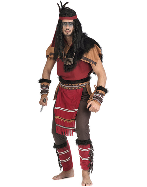 Fato de índio guerreiro para homem