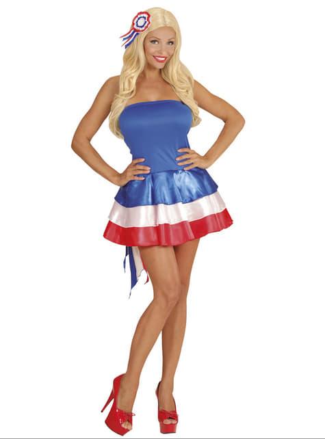 Vestido animadora de Francia para mujer - mujer