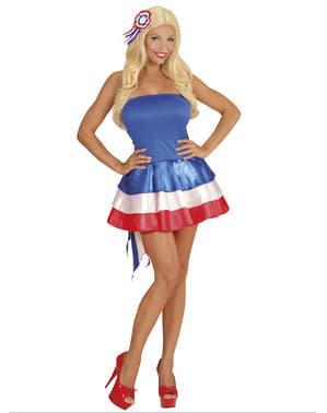 Vestido animadora da França para mulher