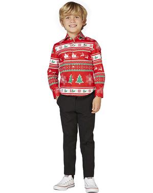 Червоний різдвяні сорочки «Wonderland» для дітей - Opposuits