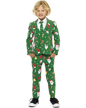 子供のためのグリーン・クリスマス「Santaboss」スーツ - Opposuits