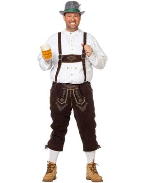 Deluxe pánsky luxusný tmavohnedý bavorský kostým