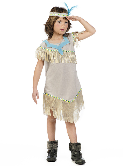 Gold Indian costume for girls