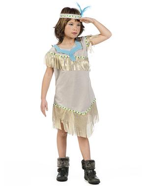 Guld indianer kostume til piger