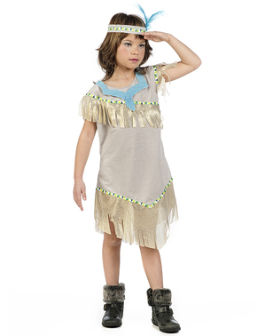女の子のためのゴールドインディアン衣装