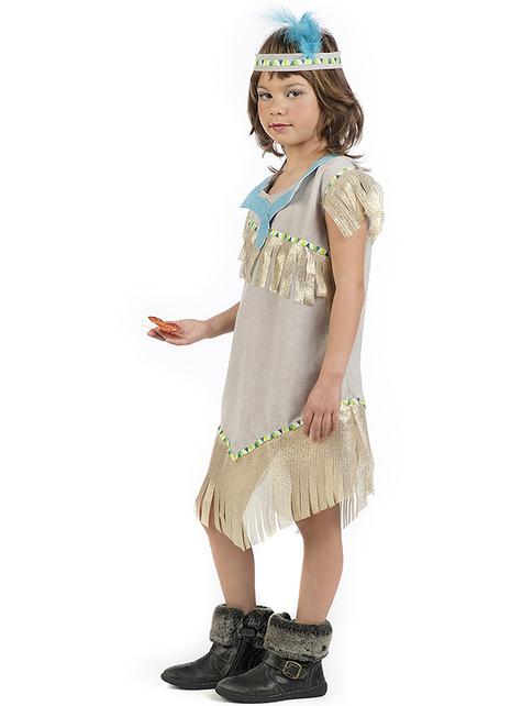 Disfraz de india dorada para niña