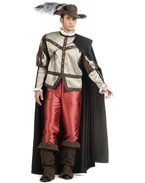 Premium musketer kostyme til menn