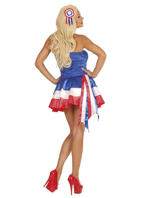 Vestido animadora de Francia para mujer - traje