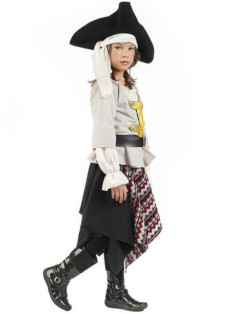 Disfraz de pirata de los siete mares para niña