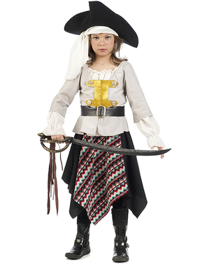 Strój pirata z siedmiu mórz dla dziewczynki