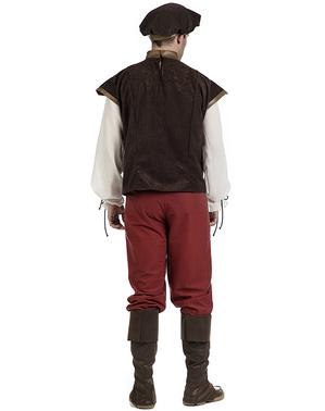 Maskeraddräkt medeltida servitör Diago vuxen