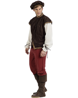 Mittelalterliches Wirt Kostüm Diago für Herren