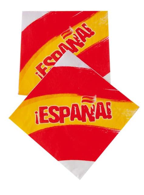 20 serviettes en papier Espagne