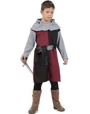 Fato de cavaleiro medieval Henry para menino