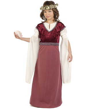 Keskiaikainen lady Rosalba asu tytöille