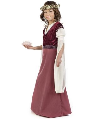 Costume da dama medioevale Rosalba per bambina