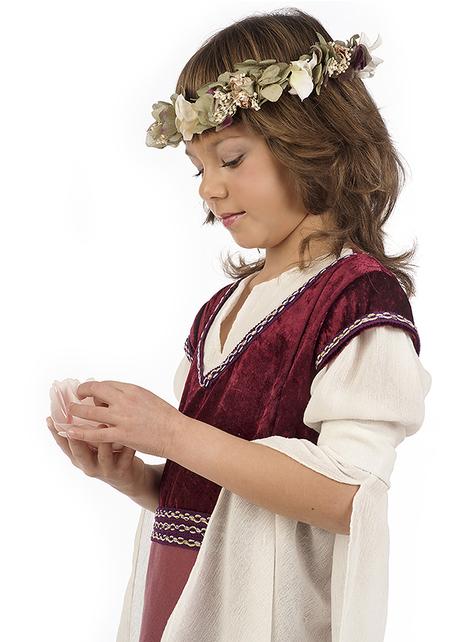 Strój dama średniowieczna Rosalba dziewczęcy