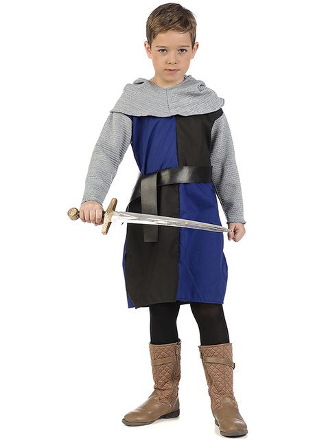 Disfraz de caballero medieval Roldán para niño