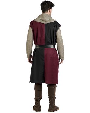 Surcote médiévale bordeaux homme