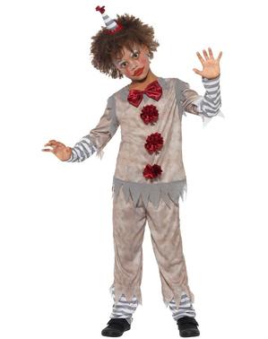 男の子のためのヴィンテージの小さなピエロ衣装