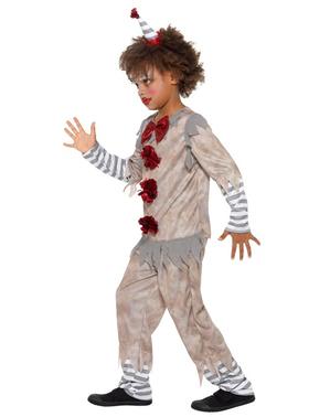 Vintage kleine clown kostuum voor jongens