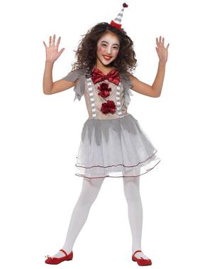 Costume da pagliaccetta vintage per bambina