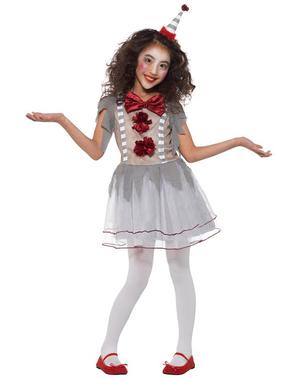 Vintage kleine clown kostuum voor meisjes