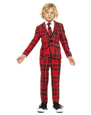 Costum băieți imprimeu scoțian