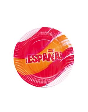 Sada talířů španělské barvy
