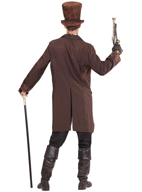 Men's brown elegant steampunk costume