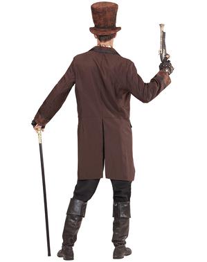 Costum steampunk elegant maro pentru bărbat