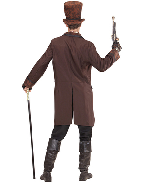 Men's brown elegant steampunk costume