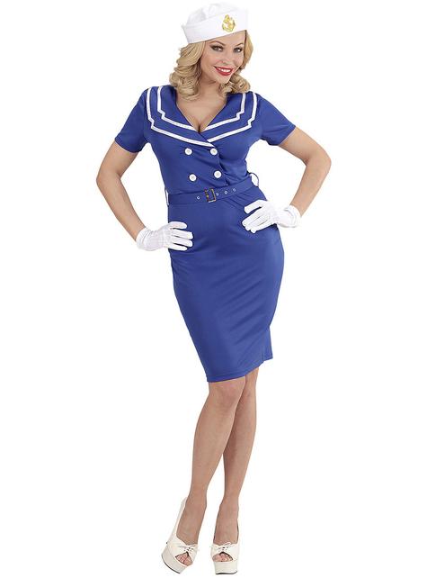 Women's blue sailor costume