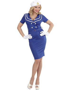 Strój marynarski niebieski damski