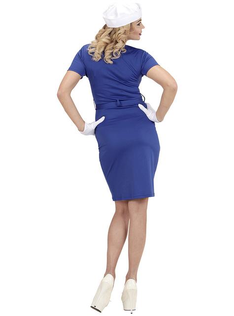 Zeevrouw Kostuum Blauw Voor vrouw