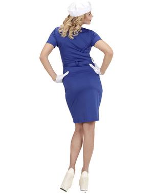 Costum de marinăriță albastru pentru femeie