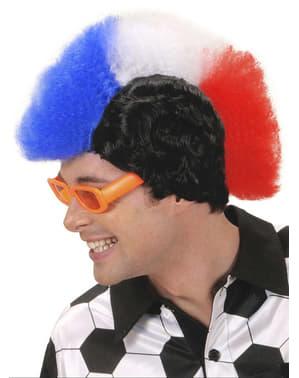 Peluca de futbolero francés para hombre