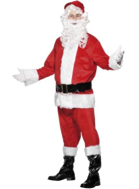 Déguisement de Père Noël velours